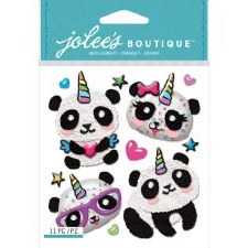 Jolee's Animal Dimensional Stickers- Pandacorn
