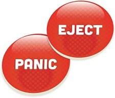 Car Coasters, 2pk- Panic, Eject