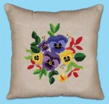 Punch Needle Pillow Kit- Pansies