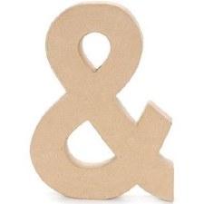 "12"" Paper Mache Symbol- &"