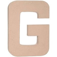 "12"" Paper Mache Letter- G"