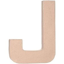 "12"" Paper Mache Letter- J"