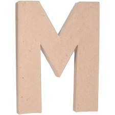 "12"" Paper Mache Letter- M"