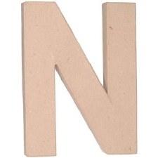 "12"" Paper Mache Letter- N"