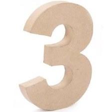 """12"""" Paper Mache Number- 3"""