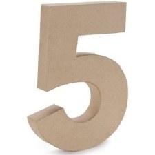 """12"""" Paper Mache Number- 5"""
