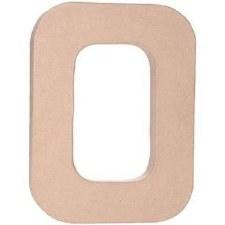 """12"""" Paper Mache Letter- O"""
