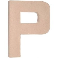 "12"" Paper Mache Letter- P"