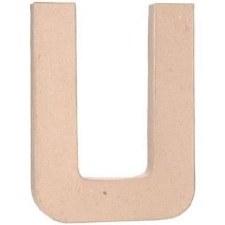 """12"""" Paper Mache Letter- U"""