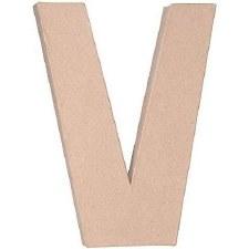 """12"""" Paper Mache Letter- V"""