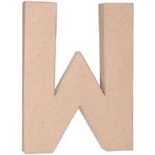 """12"""" Paper Mache Letter- W"""
