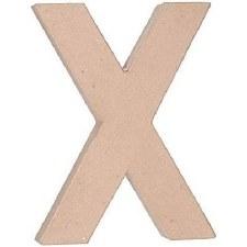 "12"" Paper Mache Letter- X"