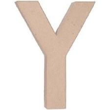 """12"""" Paper Mache Letter- Y"""