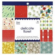 Love, Nicole 6x6 Paper Pad- Delicate Floret