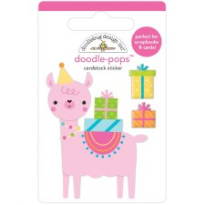 Hey Cupcake Doodle-Pops Stickers- Party Llama