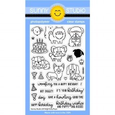 Sunny Studio Party Pup Clear Stamps