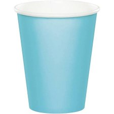 Touch of Color 9oz Paper Cups, 24ct- Pastel Blue