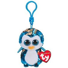 Beanie Flippable Sequins Collecion, Clip- Payton the Penguin