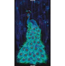 Animals Fabric Panel- Peacock Plume