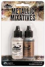 Ranger Alcohol Ink Metal Mixatives Pack- Pearl & Copper