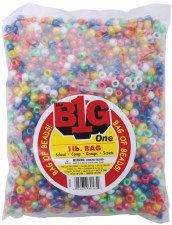 Pony Bead 1lb Pearlized Assortment, 9mm
