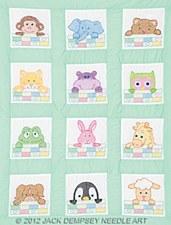 "9"" Quilt Blocks- Peek-A-Boo Nursery"