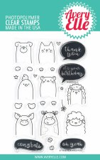 Avery Elle Peek a Boo Pet Pals Clear Stamp