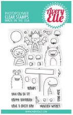 Avery Elle Peek a Boo Scary Pals Clear Stamps