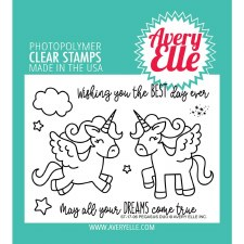 Avery Elle Pegasus Clear Stamps