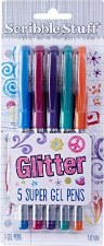 Write Dudes Gel Pens, 5 pack- Glitter