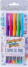 Write Dudes Gel Pens, 5 pack- Rainbow Swirl