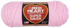 Red Heart Super Saver Yarn- Petal Pink