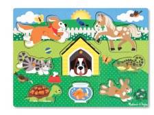 Melissa & Doug Peg Puzzle- Pets