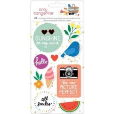 Amy Tangerine Picnic in the Park Stickers- Puffy Icons