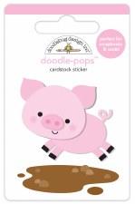 Down On The Farm Doodle-Pops Stickers- Piggy