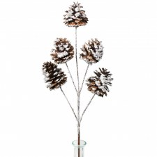 "21"" Snow Covered Pinecone Spray"