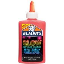 Elmer's Glow In The Dark Glue, 5oz- Pink