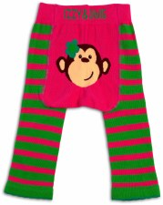 Baby Leggings, Monkey Pink- 12-24m
