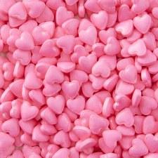 Heart Sprinkles, 1oz- Pink