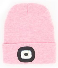 Night Scout Rechargable LED Beanie- Pink