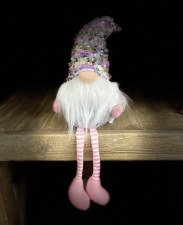 """SPRING GNOME WITH GLITTER HAT 6"""" SITTING"""