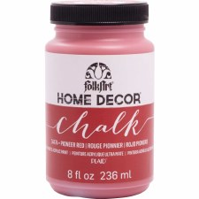 FolkArt Home Decor Chalk Paint 8 oz- Pioneer Red