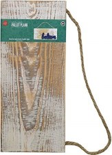 "White Wash Rustic Wood Plank Sign, 12""x5.5"""