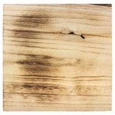 "Wood Burned Plaque: 12""x12"""