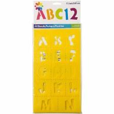 Delta Plastic Alphabet Stencils- Playtime
