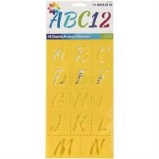 Delta Plastic Alphabet Stencils- Script
