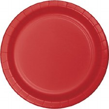 """Touch of Color 7"""" Paper Plate, 24ct- Red"""