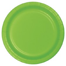 """Touch of Color 7"""" Paper Plate, 24ct- Lime Green"""