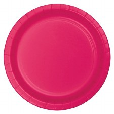 """Touch of Color 7"""" Paper Plate, 24ct- Hot Magenta"""