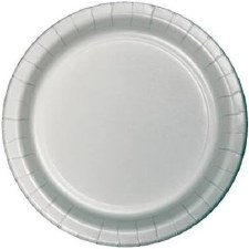 """Touch of Color 7"""" Paper Plate, 24ct- Shimmering Silver"""